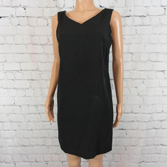 Danny & Nicole black pinstripe dress
